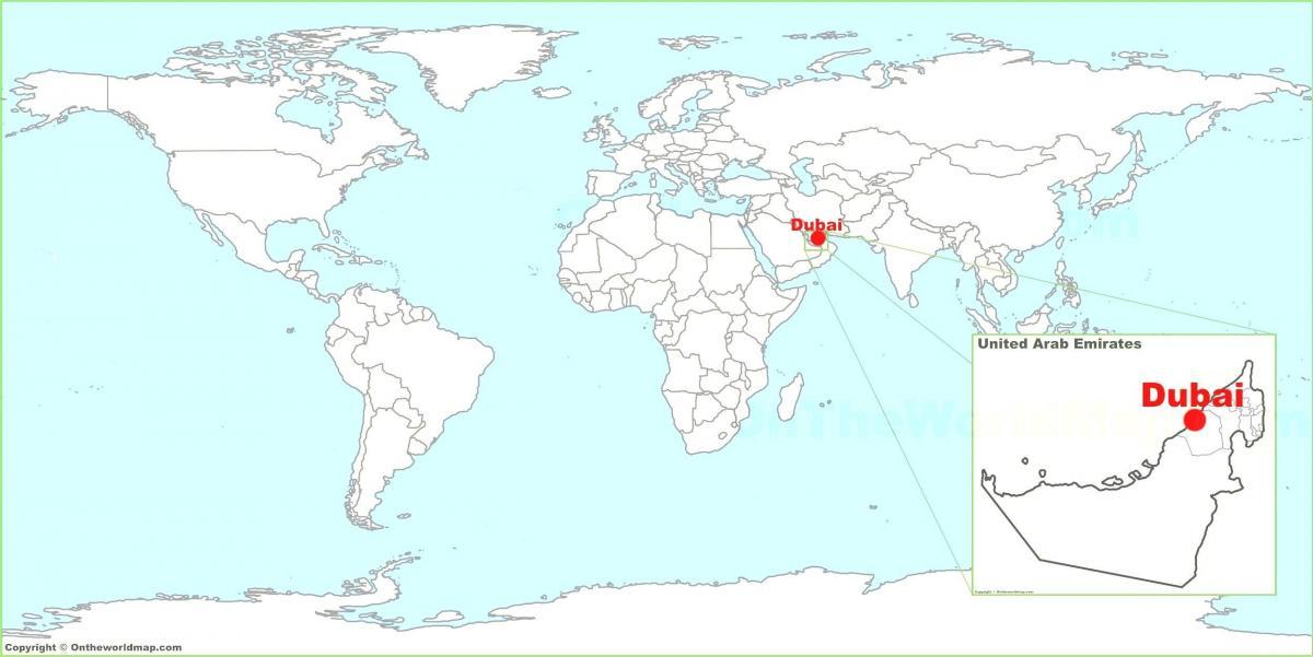 dubai karta världen Dubai world map   Dubai karta i världen (United Arab Emirates) dubai karta världen