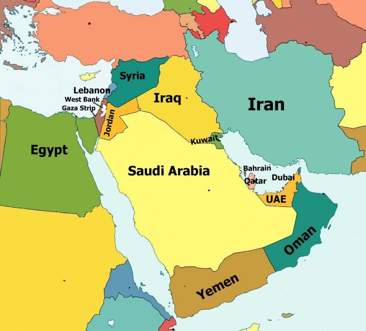 karta över dubai Dubai karta mellanöstern   Dubai karta över mellanöstern (Förenade  karta över dubai